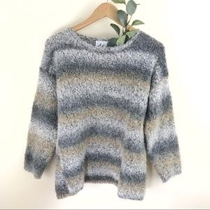 A.K.F. Vintage Fuzzy Mohair Striped Sweater